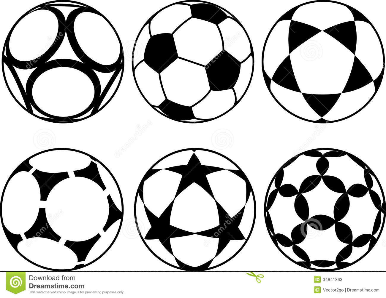 Soccer Ball Clip Art Black And White