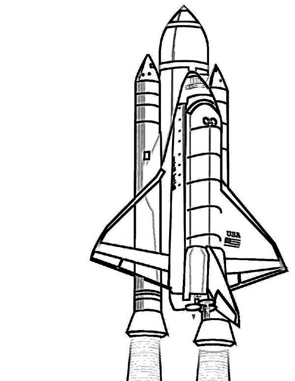Space Shuttle Coloring Pages Clipart Panda Free