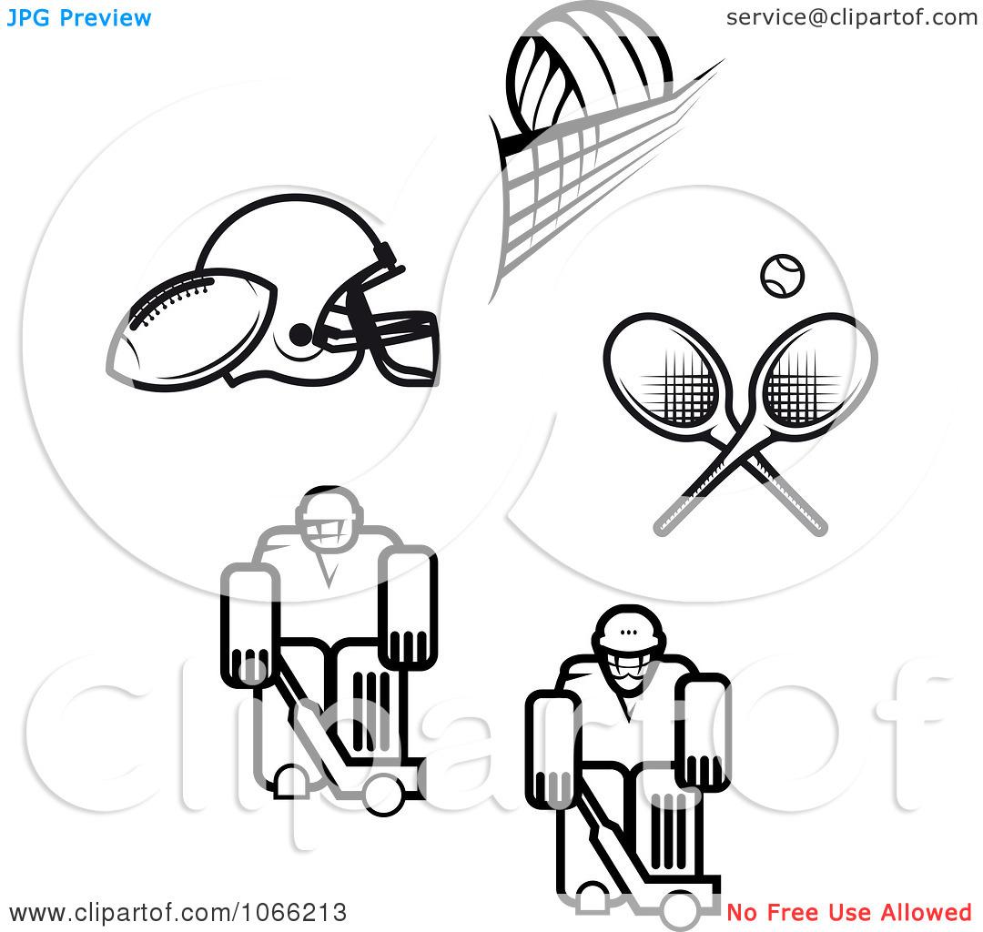 Sports Clip Art Black And White Cliparts