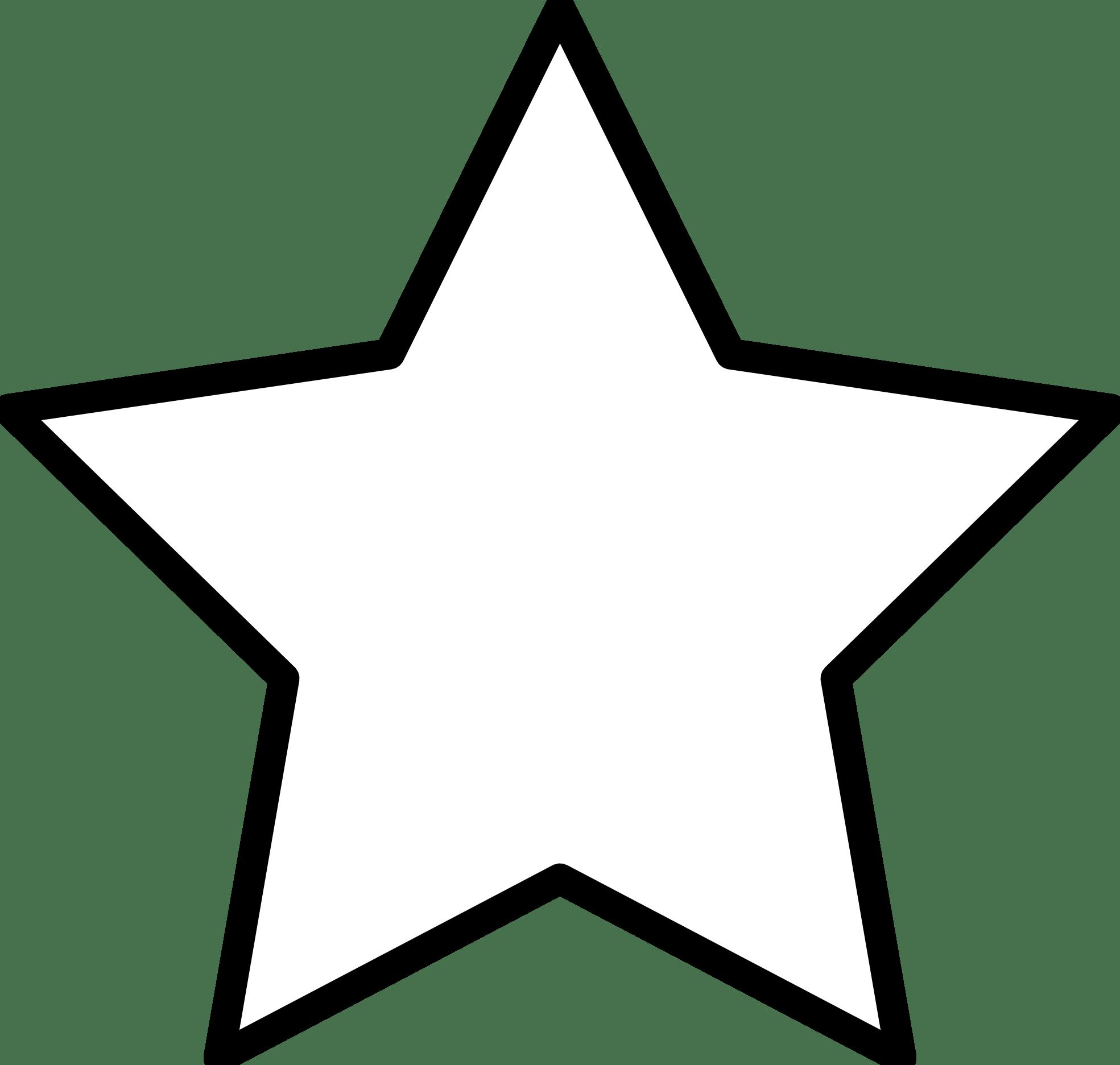 Star Clip Art Outline Black And White