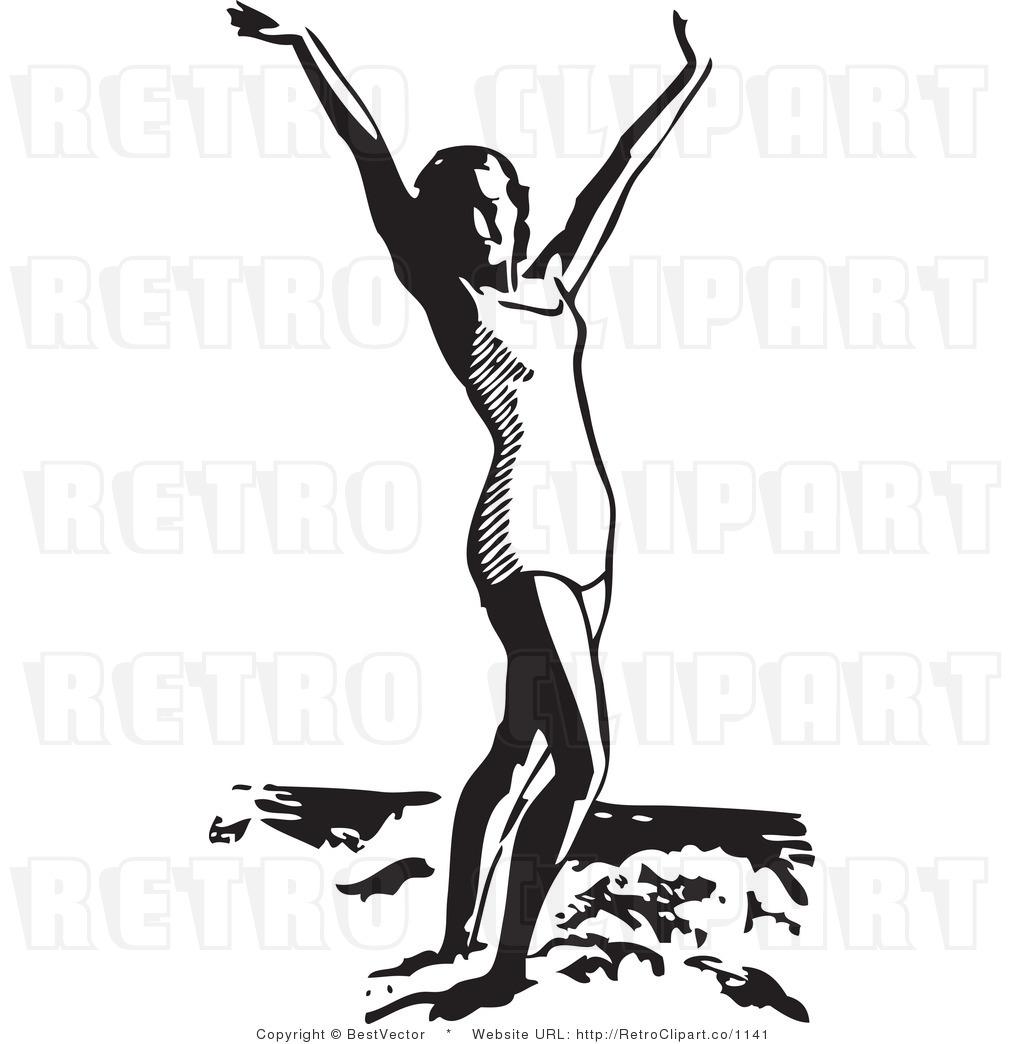 Retro Beach Clip Art Cliparts