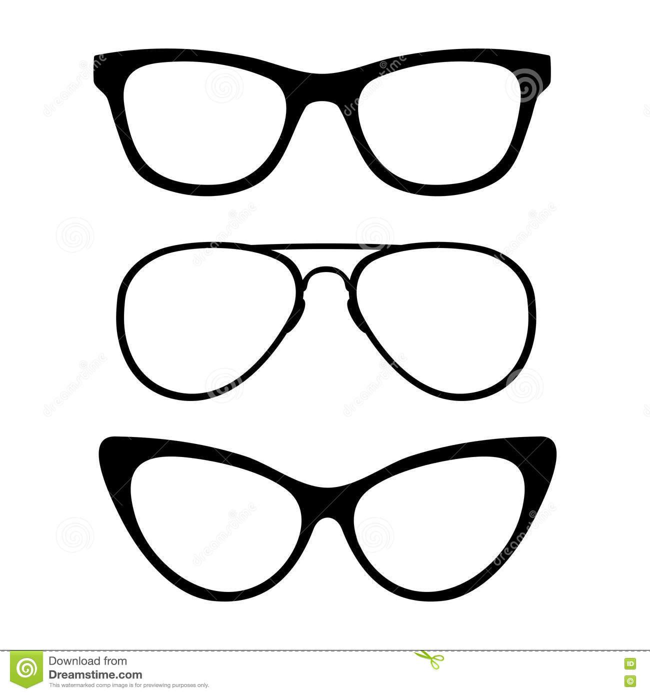 Sunglasses Black And White Vector Clipart Panda