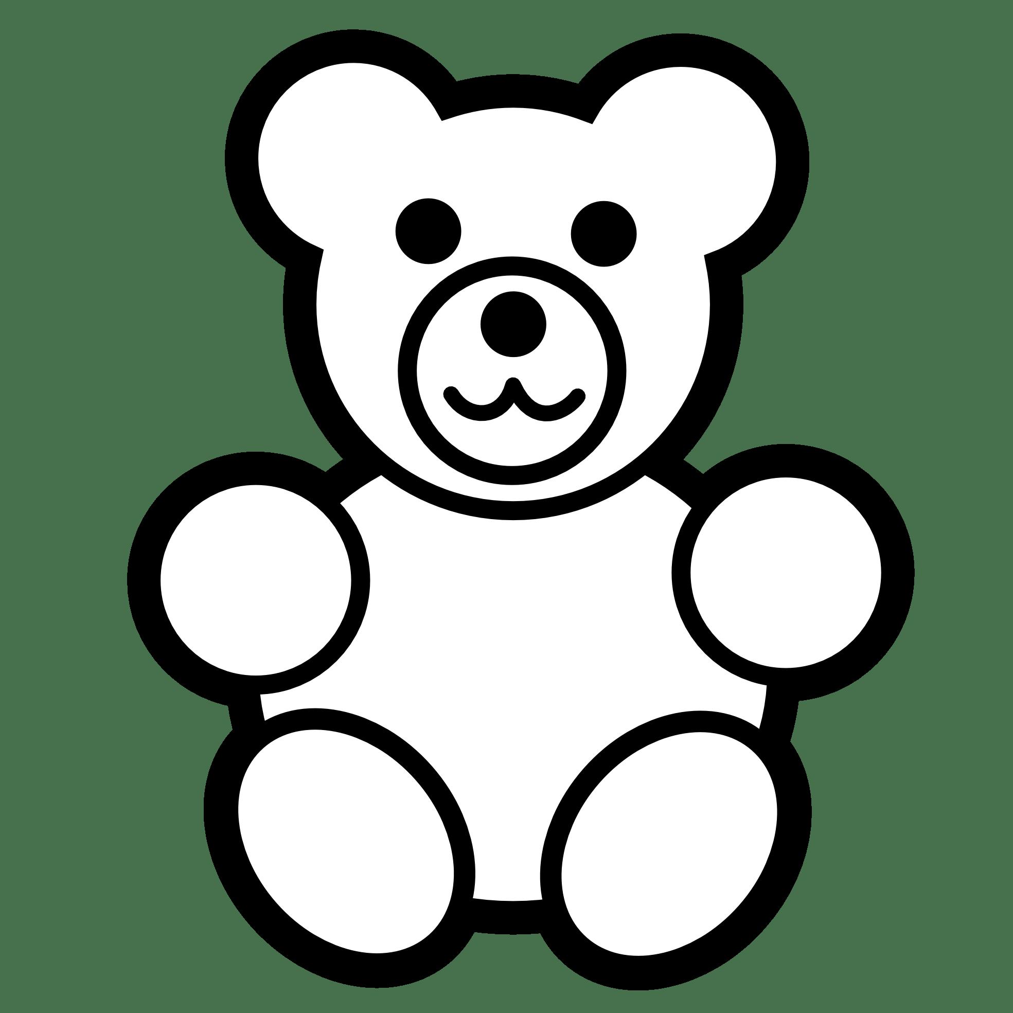 Teddy Bear Clipart Black And White Clipart Panda