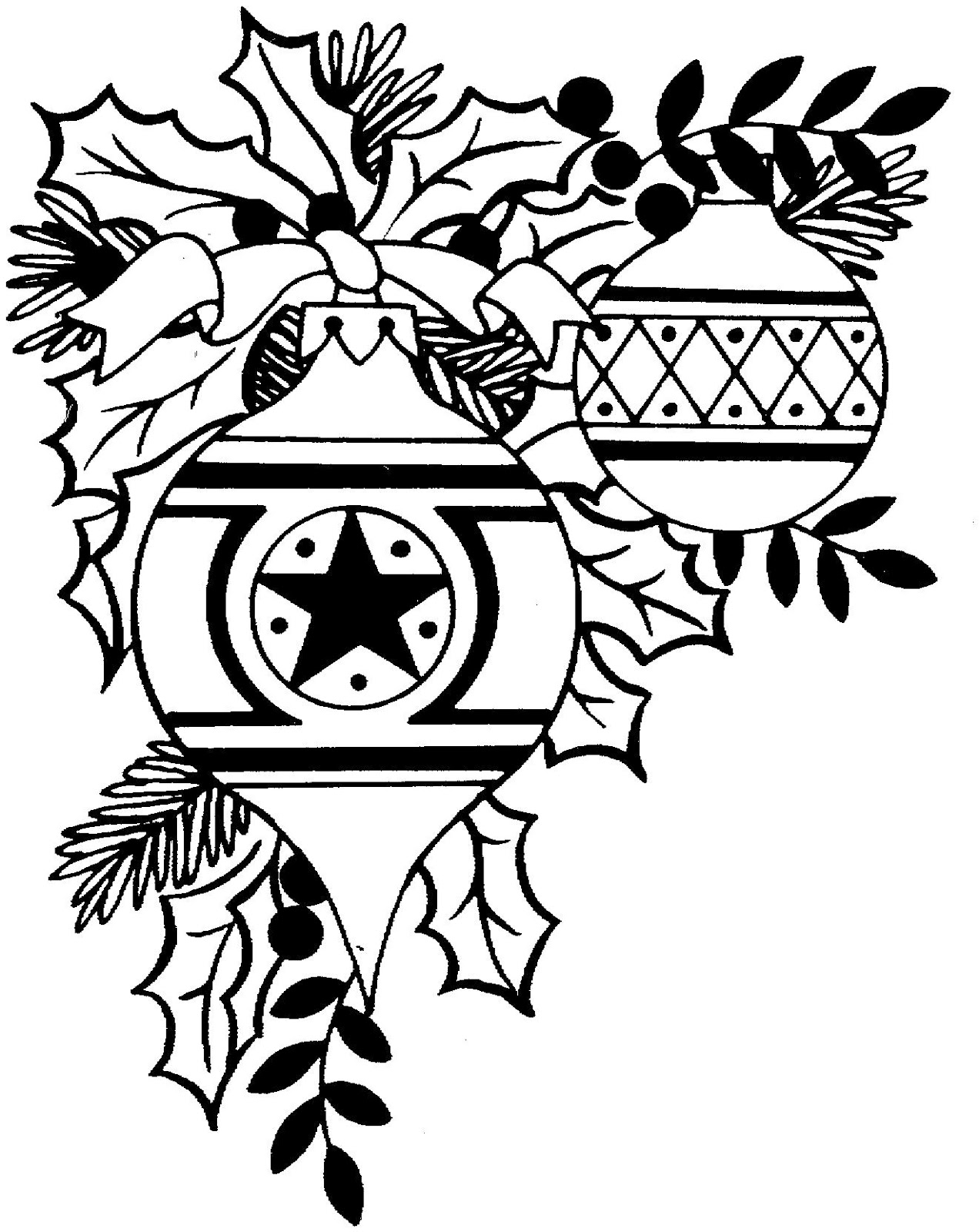 Free Christmas Clip Art Black And White