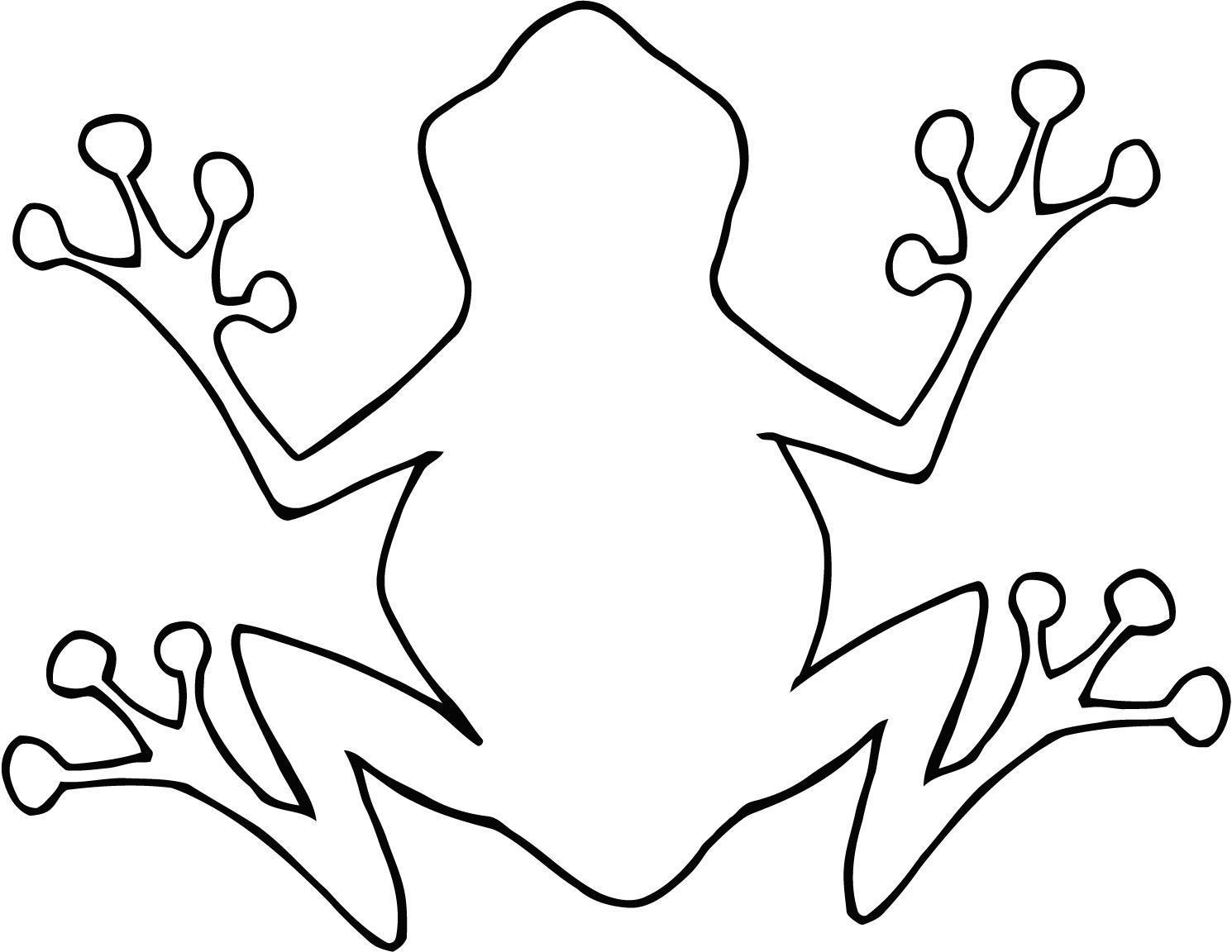 Tree Frog Outline Clipart Panda
