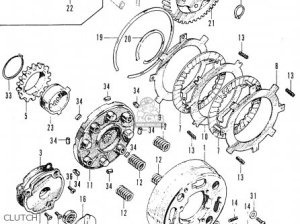 Honda C50 Cub 1969 Belgium parts list partsmanual partsfiche