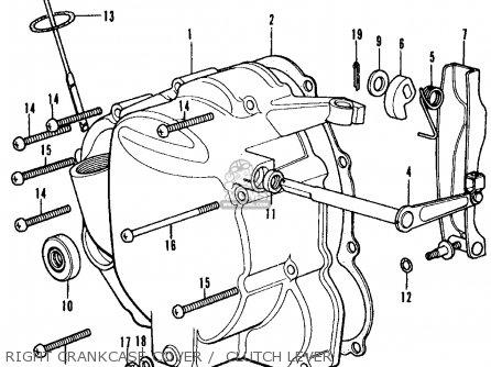 honda cb350f four 1972 usa parts lists and schematics