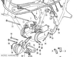 Honda CB350F FOUR FRANCE parts lists and schematics