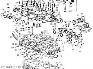 Honda Cb550 K2 Four 1976 Usa parts list partsmanual partsfiche