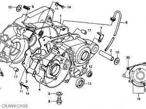 Honda Cr80r 1991 (m) Usa parts list partsmanual partsfiche