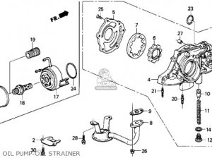 Honda Crx 1990 (l) 2dr Si (ka,kl) parts list partsmanual partsfiche
