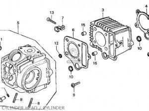 Honda Ct70 Trail 70 1977 Usa parts list partsmanual partsfiche