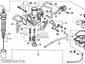 Honda Trx250 Recon 1999 (x) Australia Th parts list