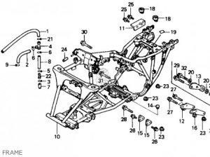 Honda Trx300 Fourtrax 300 1989 (k) Usa parts list partsmanual partsfiche