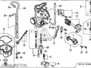 Honda Xr400r 1997 Australia parts list partsmanual partsfiche