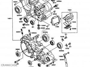Kawasaki KX125G1 1989 EUROPE UK AL parts lists and schematics