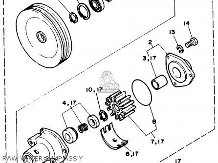 Yamaha V6 4 3 Stern Drive Engine Parts List