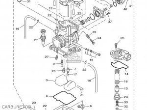 Yamaha YZ2501 2000 (Y) USA parts lists and schematics