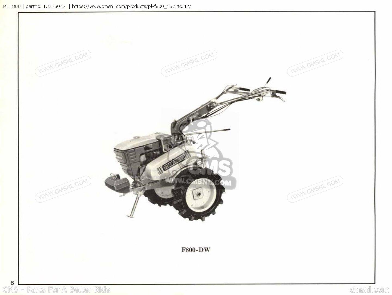 Pl F800 Parts Manuals