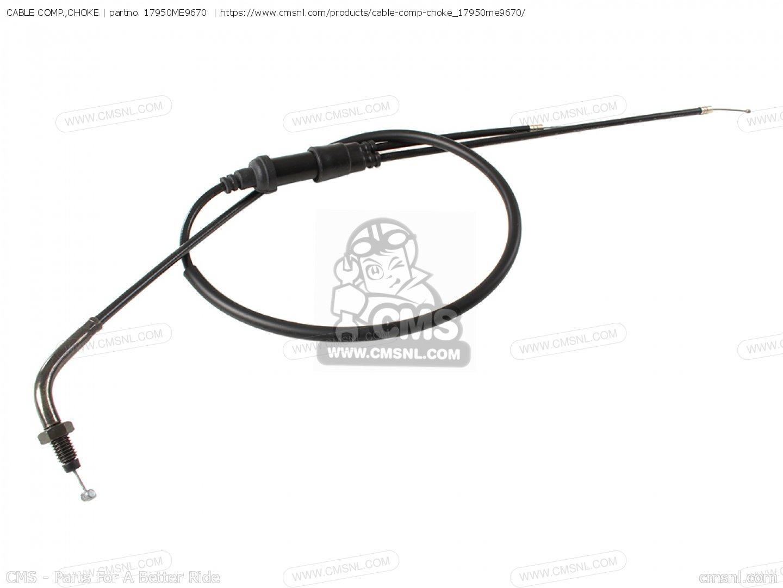 Cable Comp Choke Fits Vt750c Shadow D Usa