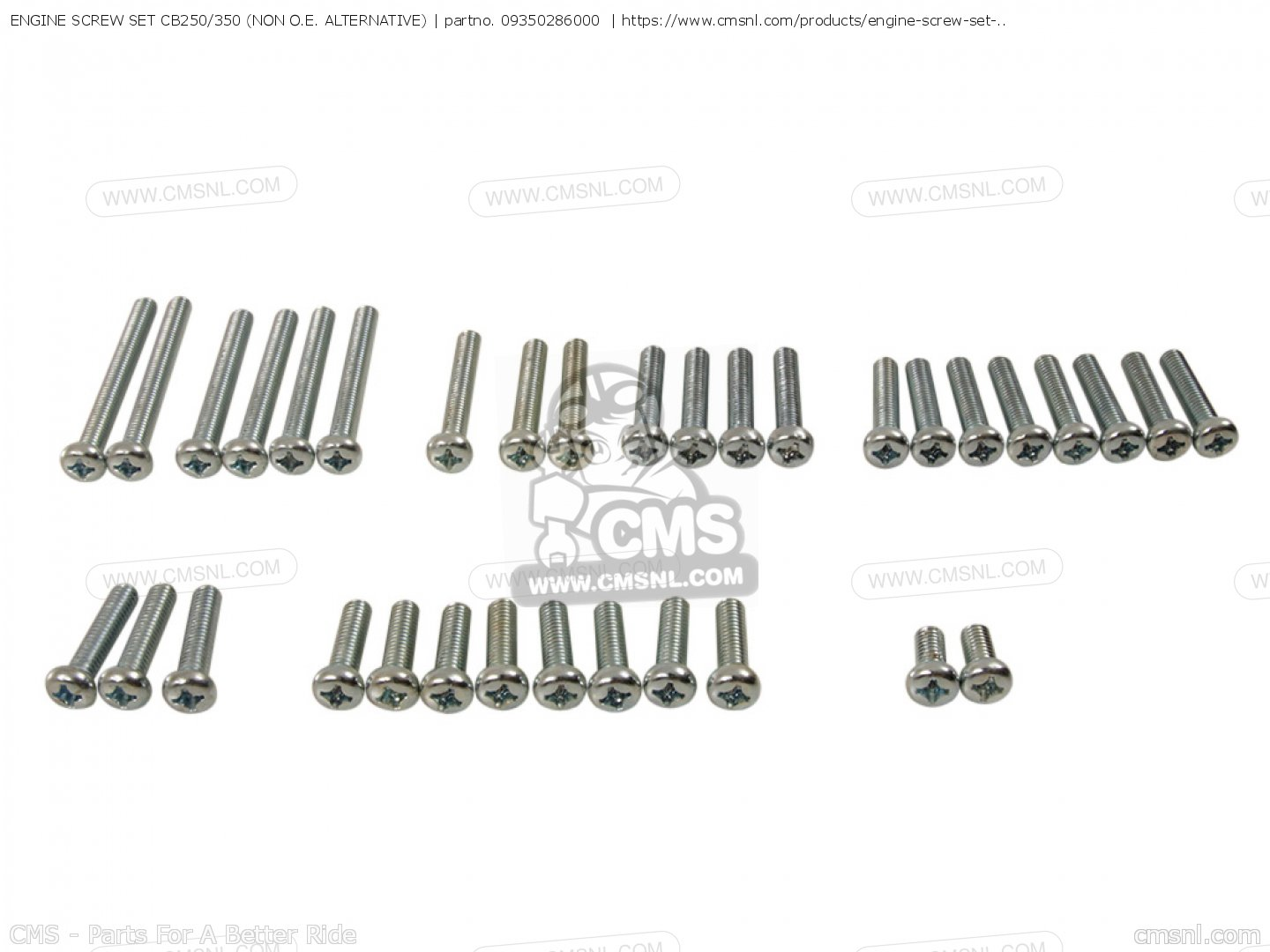 Engine Screw Set Cb250 350 Non O E Alternative For