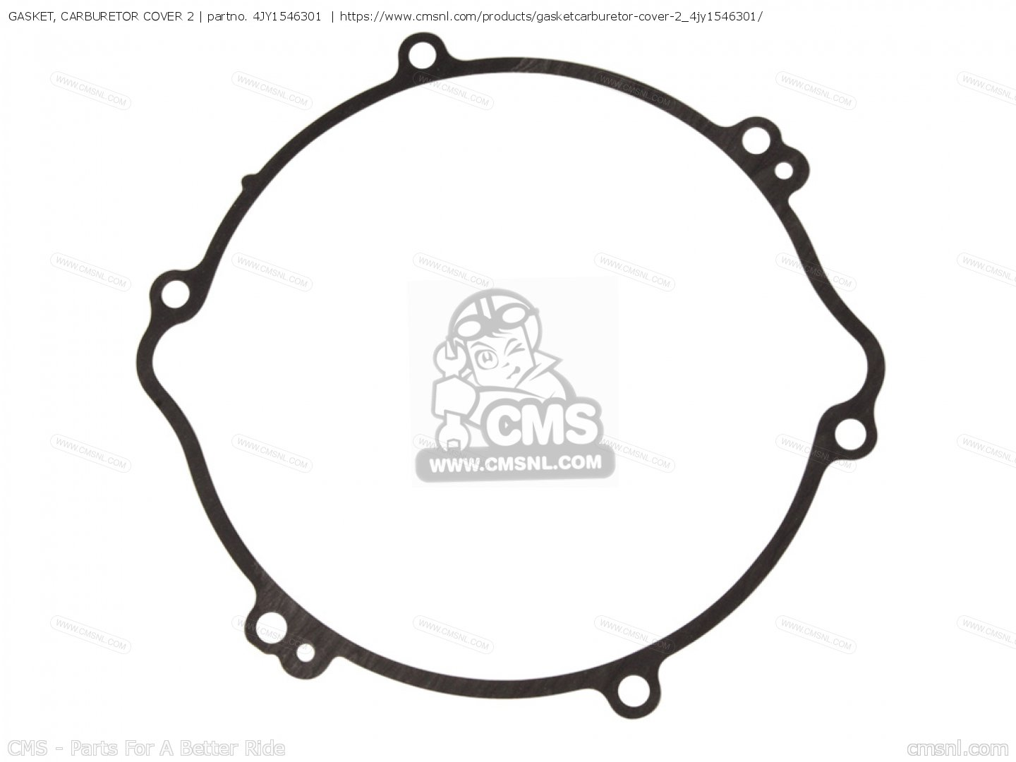 Gasket Carburetor Cover 2 Yz125 2 Usa 4jy