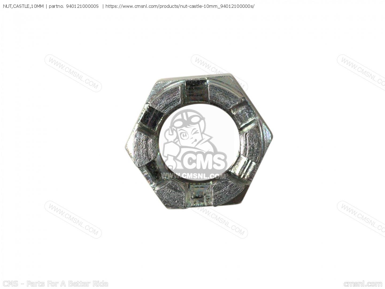 Nut Castle 10mm For Cl77 Scrambler Usa 305