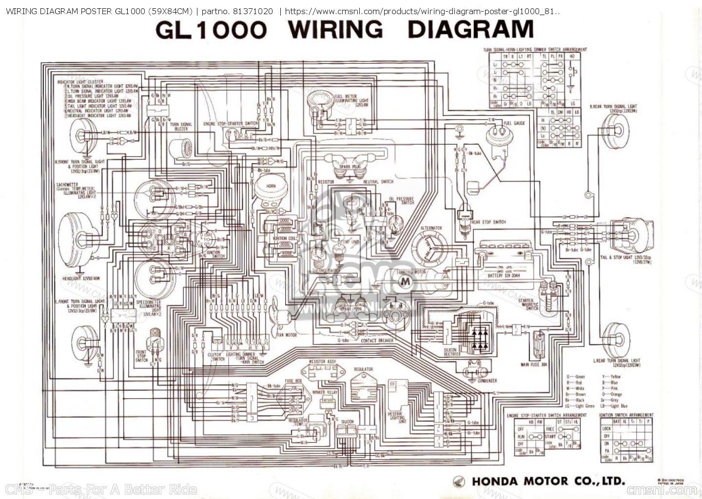 wiring diagram poster gl1000 59x84cm_big81371020 01_71ef?resize=665%2C473 g l wiring diagram the best wiring diagram 2017 Basic Electrical Wiring Diagrams at reclaimingppi.co