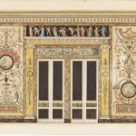 Drawing Projet Pour Un Salon De Musique Design For A Wall Elevation In A Music Room Objects Collection Of Cooper Hewitt Smithsonian Design Museum