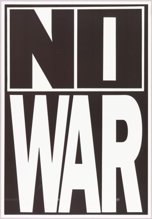 Poster  No War  ca  1980   Objects   Collection of Cooper Hewitt     Black and white block letters  NO   WAR