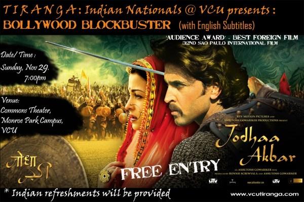 Bollywood movie - Jodhaa Akbar (with subtitles)