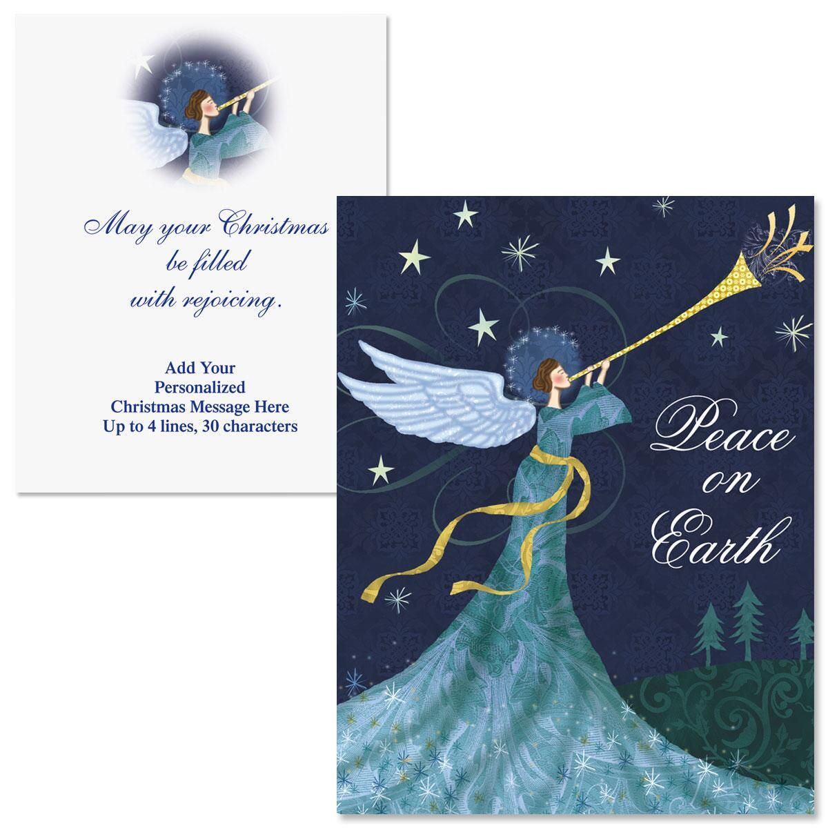 Peace Angel Note Card Size Christmas Cards Colorful Images