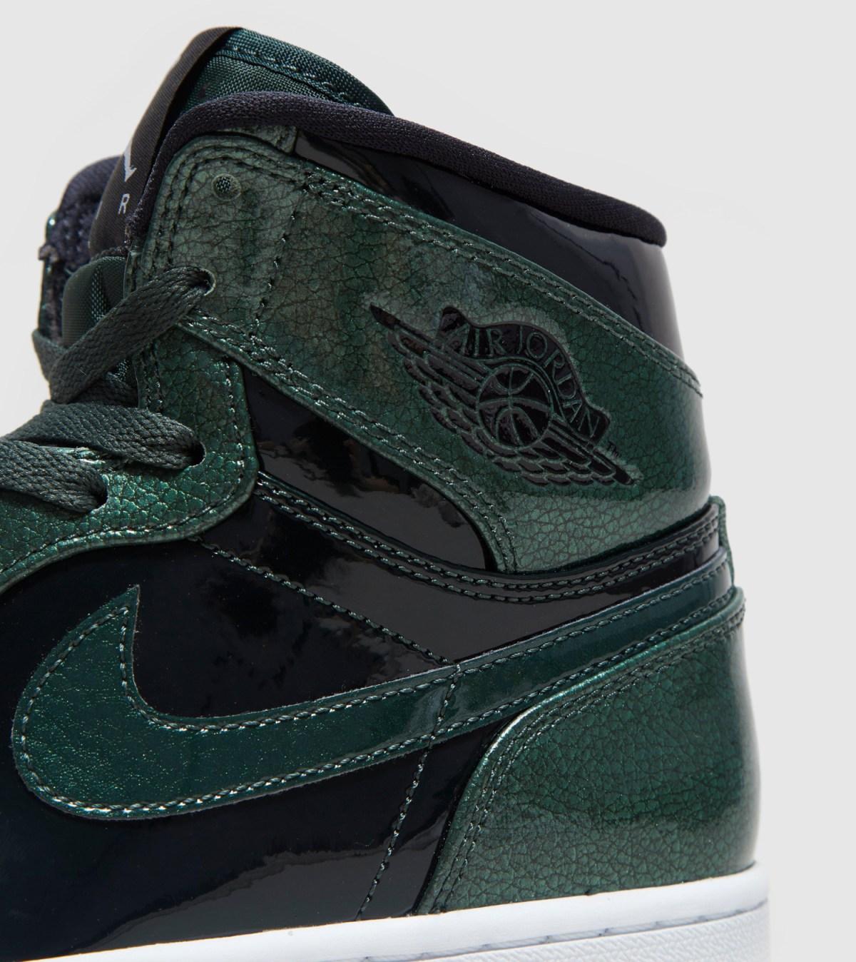 Air Jordan 1 Gorge Green Patent Leather 332550-300 Back Detail