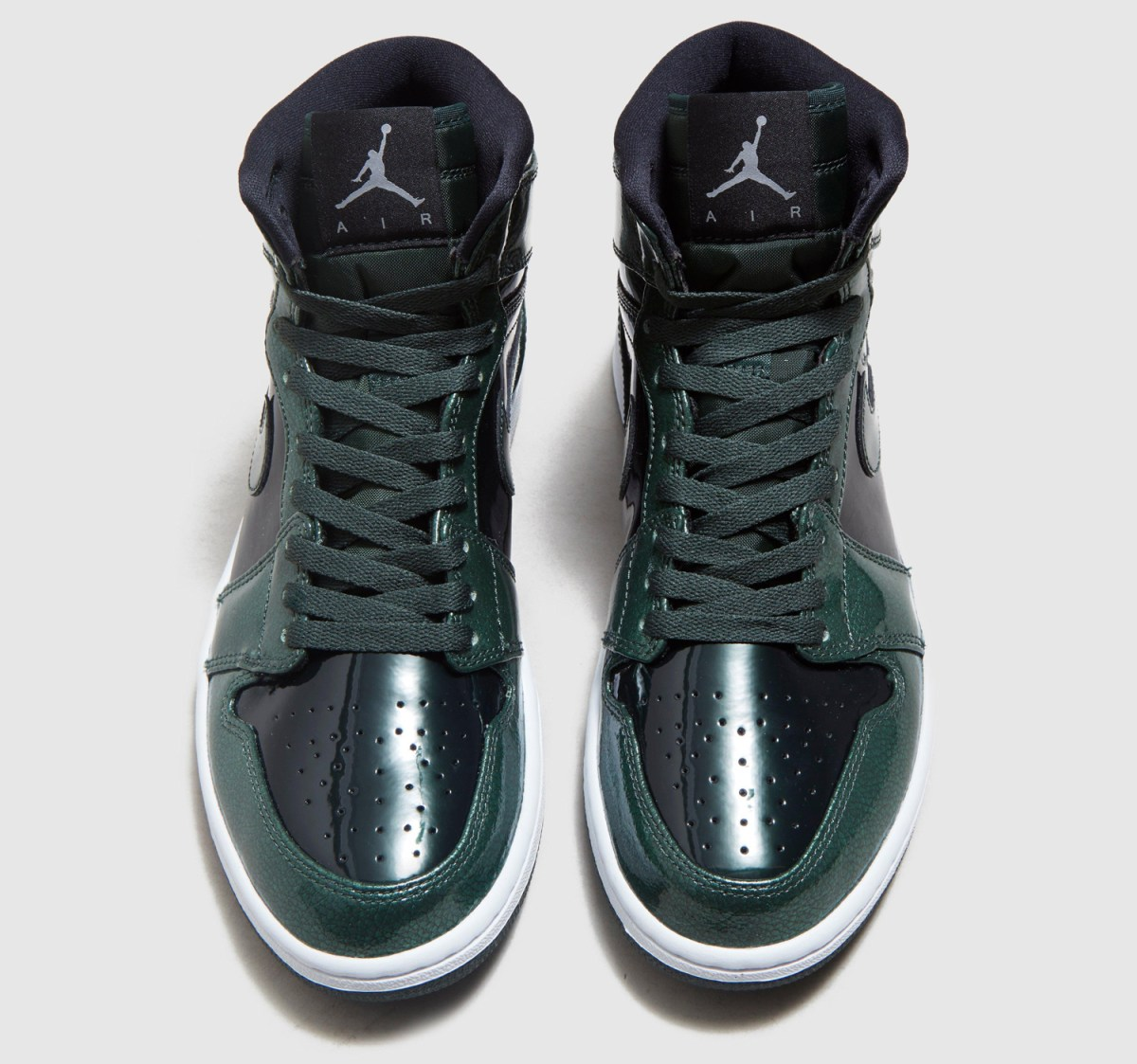 Air Jordan 1 Gorge Green Patent Leather 332550-300 Top