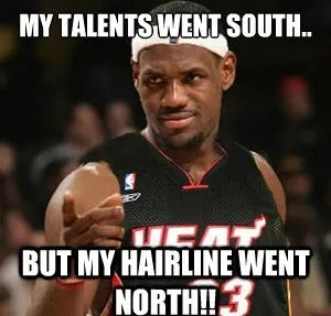 Northbound The 50 Meanest LeBron James Hairline Memes Of