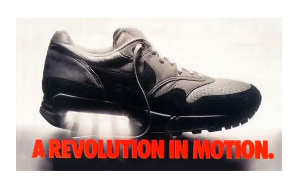 Resultado de imagem para air max 1 1987 commercial revolution
