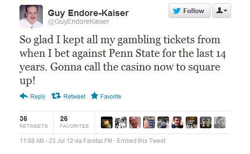 Guy Endore-Kaiser - Twitter Reacts to the Penn State ...