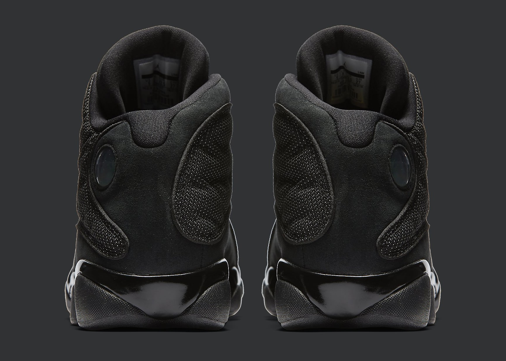 Black Cat Air Jordan 13 414571-011 Heel