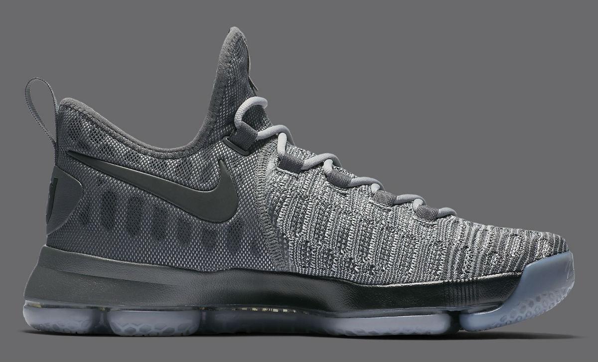 Nike KD 9 Batalla gris medial 843392-002
