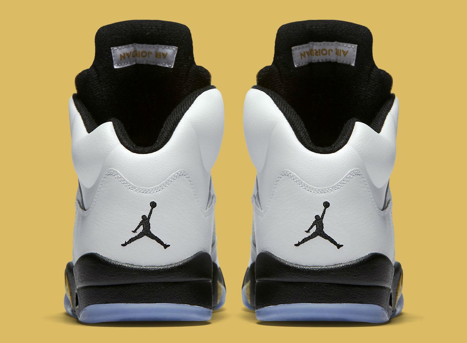 Gold Jordan 5 Release Date Heel 136027-133