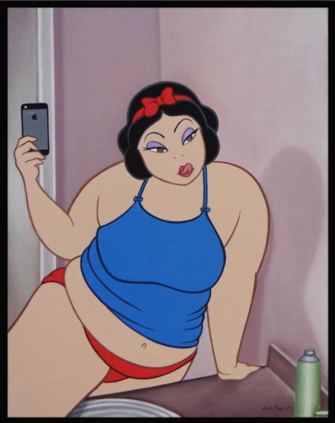 Disney Characters Smoke Weed And Take Selfies In This Art