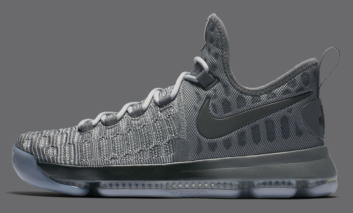 Nike KD 9 Batalla Gris Side 843392-002