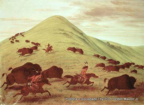 Índios, pradarias, liberdade e bisões