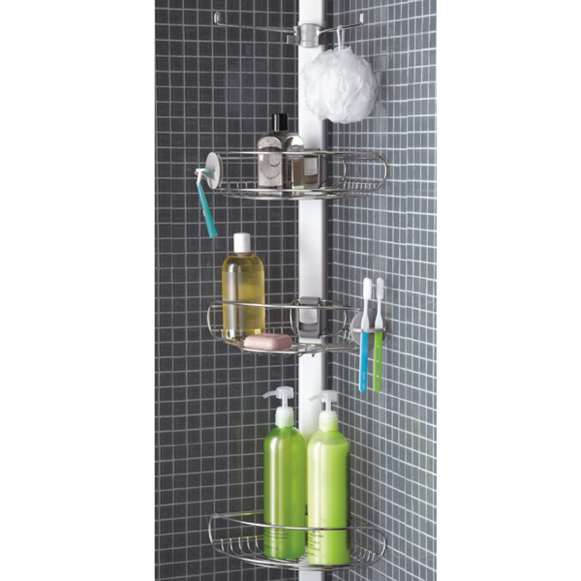 Image Result For Stainless Steel Tension Pole Shower Caddy Rust Proof