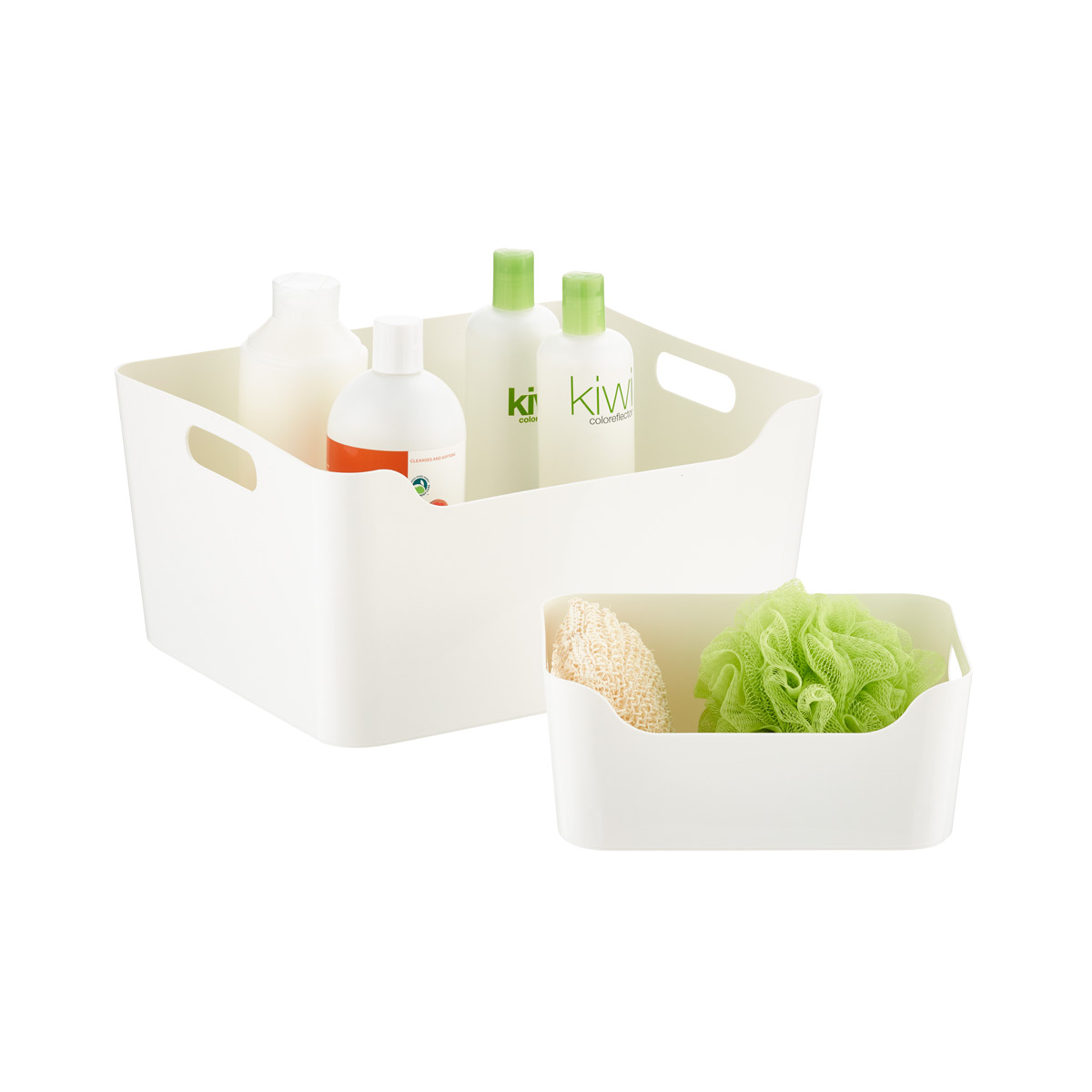 Best Kitchen Gallery: White Plastic Storage Bins With Handles The Container Store of Plastic Storage Containers on rachelxblog.com