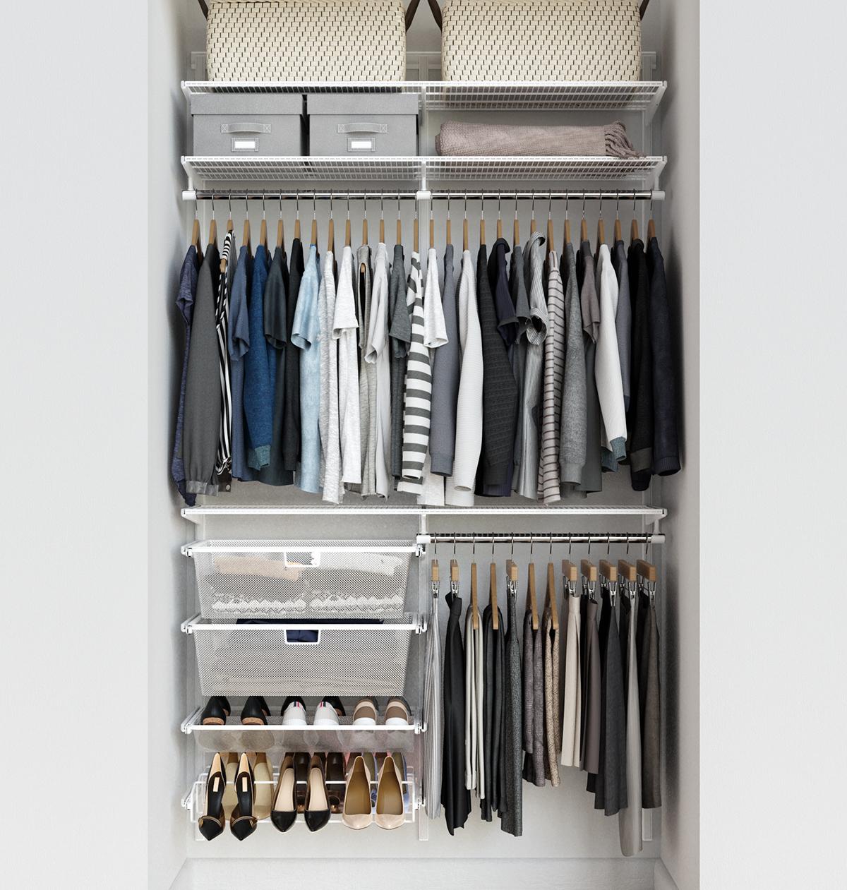 Elfa Classic 4 White Reach In Closet
