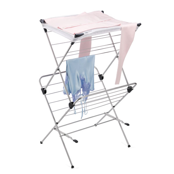 polder 2 tier mesh top clothes drying rack