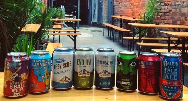 cans of ber at Bodega in Nottingham