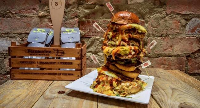 Burger from Fernandez Grill
