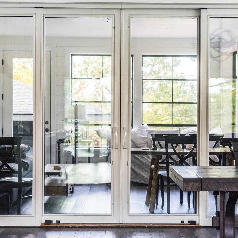 contemporary modern patio doors pella